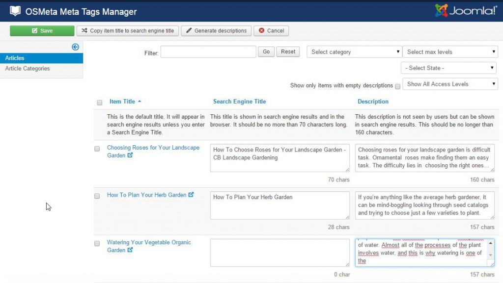 OSMeta Meta Tags Manager