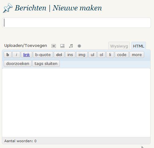 Basis Bericht Schrijven in WordPress