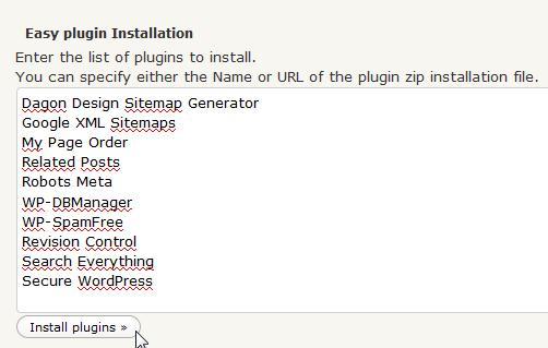 Meerdere Plugins Iinstalleren