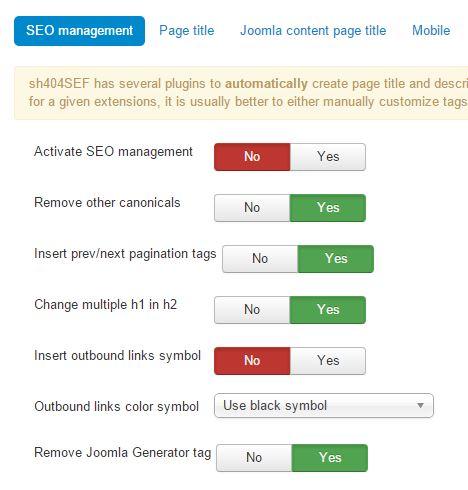 sh404SEF SEO Management
