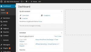 WordPress 3.8 Dashboard
