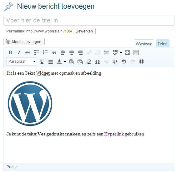 WordPress Bericht Maken