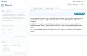 Je eerste WordPress Menu aanmaken