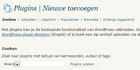 WordPress Plugins Installeren