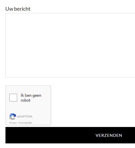 reCAPTCHA op Contact Formulier van Website Beginners Gids