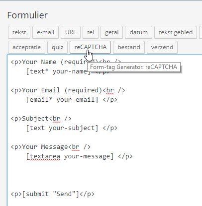 Bewerk contactformulier ‹ Website Beginners Gids