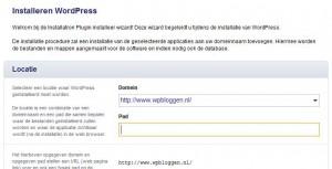 WordPress Installatie Locatie