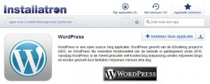 Installatron WordPress Installatie