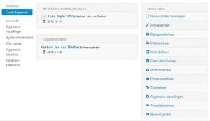 Joomla! 3.0 Administratie paneel