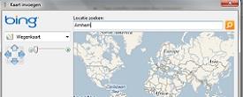 Een kaart van Bing toevoegen