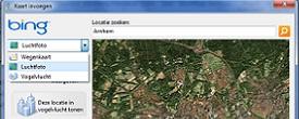 Een vogelvlucht kaart van Bing toevoegen
