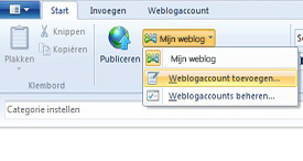 windows live writer accounts instellen